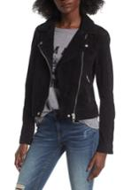 Women's Blanknyc Suede Moto Jacket - Black