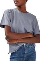 Women's Topshop Distressed Edge Tee Us (fits Like 0) - Blue