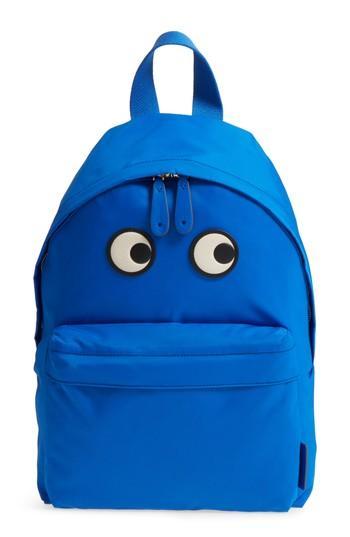Anya Hindmarch Eyes Nylon Backpack - Blue