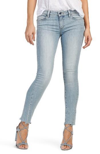 Women's Paige Skyline Twisted Seam Ankle Peg Jeans - Blue