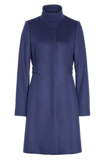 Women's Boss Casenos Wool & Cashmere Coat - Blue