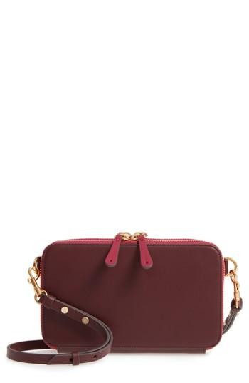 Women's Anya Hindmarch Stack Leather Crossbody Wallet - Red