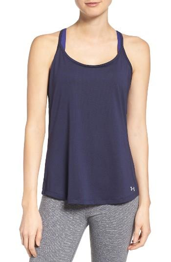 Women's Under Armour Fly By Racerback Tank - Blue