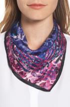 Women's Rebecca Minkoff Painted Floral Silk Bandana, Size - Blue