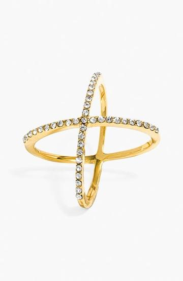 Women's Baublebar 'mason' Pave Ring - Gold