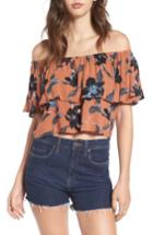Women's Faithfull The Brand Salerno Off The Shoulder Top - Orange