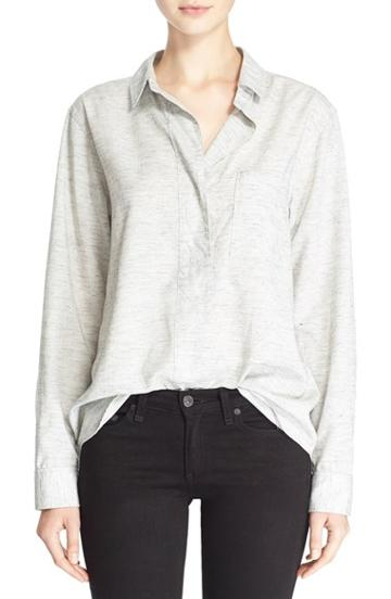 Women's Rag & Bone/jean 'leeds' Heathered Woven Shirt