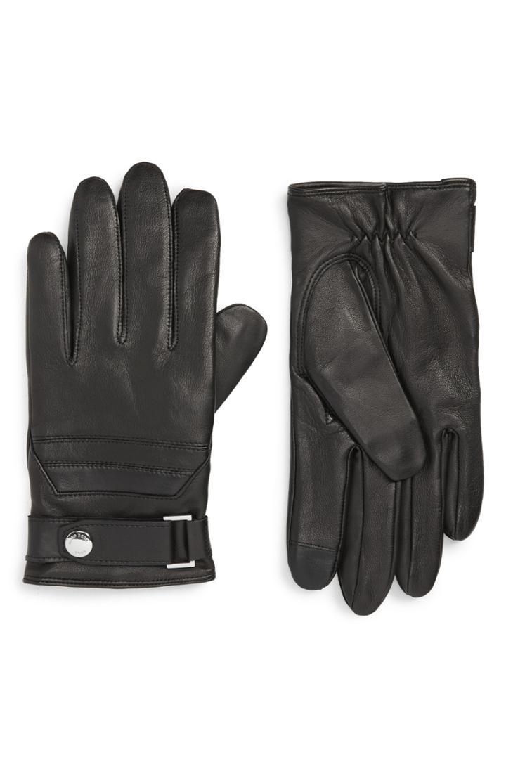 Men's Boss Tt Hermon Leather Glove - Black