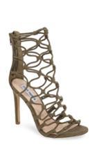 Women's Steve Madden Mayfair Latticework Sandal, Size 5.5 M - Green