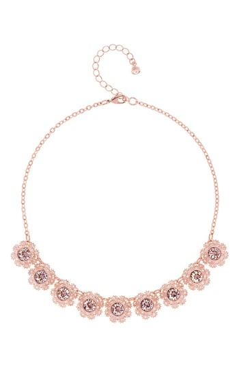 Women's Ted Baker London Crystal Daisy Lace Collar Necklace