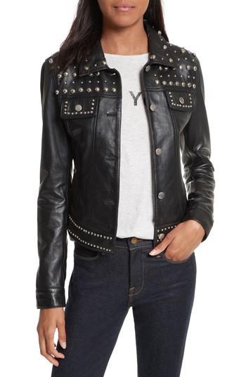 Women's Rebecca Minkoff Annatto Leather Jacket, Size - Black