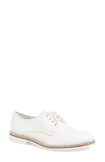 Women's Miista 'zoe' Stingray Embossed Leather Oxford