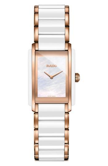 Women's Rado Integral Ceramic Bracelet Watch, 22mm X 33mm