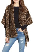 Women's David & Young Leopard Print Shawl, Size - Brown