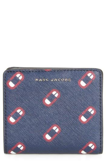 Women's Marc Jacobs Scream Saffiano Leather Wallet - Blue