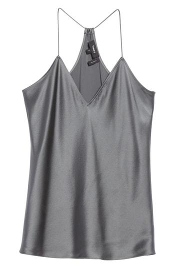 Women's Theory Vintage Draped Back Slip Camisole Top - Grey