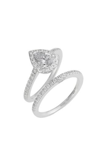 Women's Lafonn Joined At The Heart Pear-shaped Halo Ring