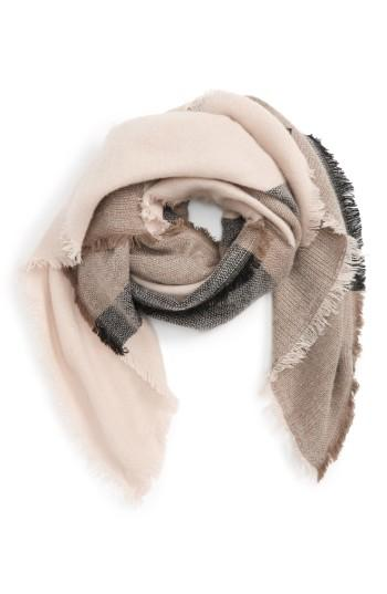 Women's Accessory Collective Stripe Scarf, Size - Grey