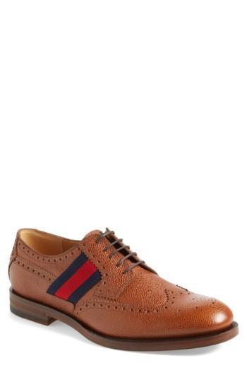 Men's Gucci Strand Wingtip .5us / 9.5uk - Brown