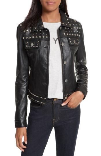 Women's Rebecca Minkoff Annatto Leather Jacket - Black