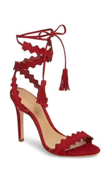 Women's Schutz Lisana Wraparound Sandal M - Red