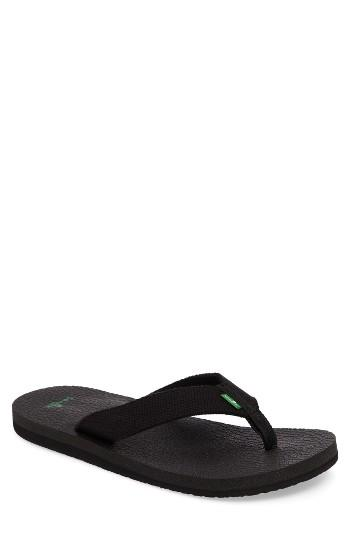 Men's Sanuk 'yogi 4 Beer Cozy' Flip Flop M - Black