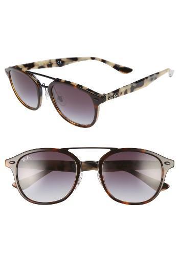 Women's Ray-ban 53mm Aviator Sunglasses - Beige Tortoise