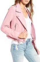 Women's Blanknyc Morning Suede Moto Jacket - Pink