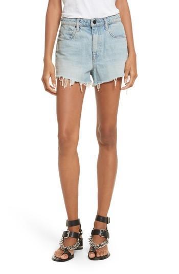 Women's Denim X Alexander Wang Bite Light Denim Shorts - Blue