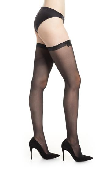 Women's Wolford Valentina Stay-up Stockings - Black