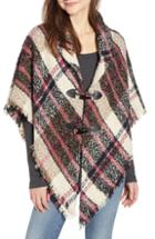 Women's David & Young Plaid Shawl, Size - Beige