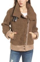 Women's Evidnt Fleece Moto Jacket - Brown