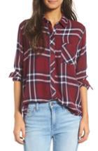 Women's Rails Hunter Plaid Shirt, Size - Burgundy