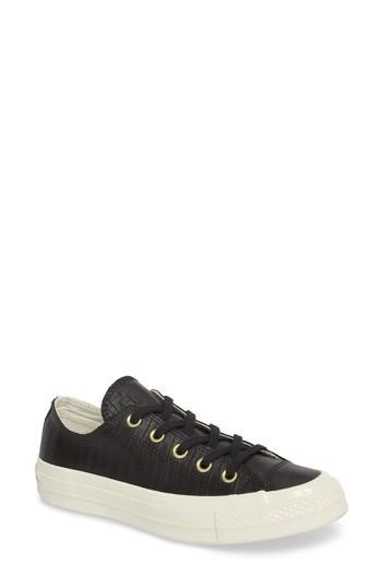 Women's Converse Ct 70 Reptile Low Top Sneaker M - Black