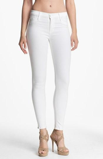 Hudson Jeans 'nico' Skinny Stretch Jeans (white) Womens White