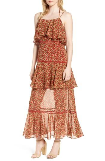 Women's Rebecca Minkoff Clarissa Floral Tiered Maxi Dress - Red