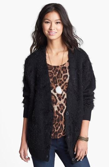Bp. Fuzzy Boyfriend Cardigan (juniors)