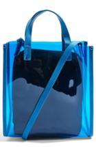 Topshop Penny Perspex Shopper Tote - Blue