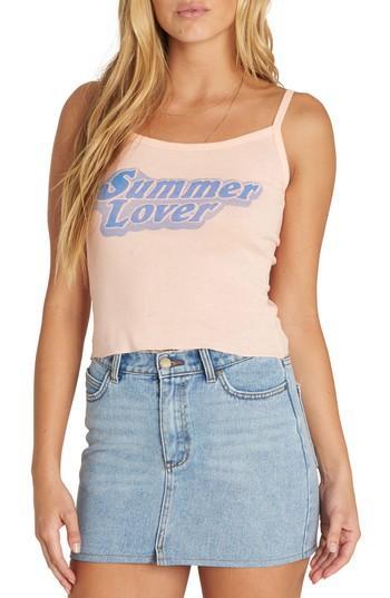 Women's Billabong Summer Lover Graphic Tank - Pink