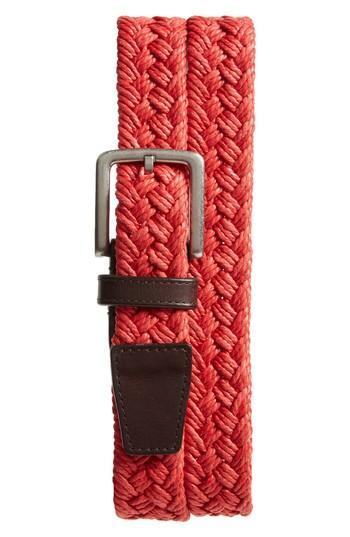 Men's Cole Haan Woven Belt - Aura Orange