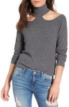 Women's Lna Franklin Cutout Sweater - Grey