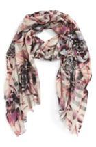 Women's Burberry Floral Print Wool & Silk Scarf