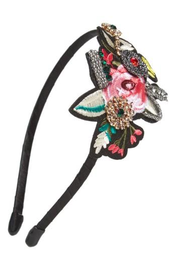 Cara Rose Patch Headband, Size - Red