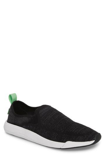 Men's Sanuk Chiba Quest Knit Slip-on Sneaker /5 M - Black