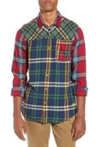 Men's Scotch & Soda Mix And Match Plaid Shirt - Blue