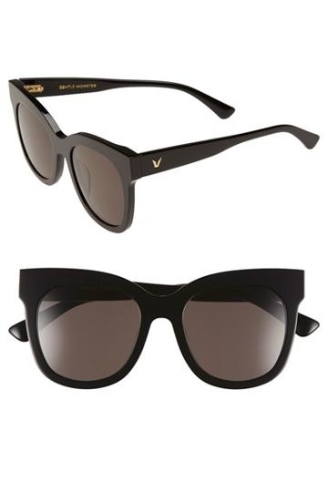Women's Gentle Monster 'black Sheep' 53mm Cat Eye Sunglasses - Black