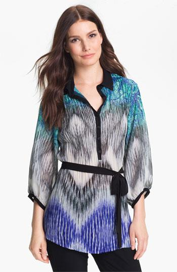 Komarov Belted Print Tunic Electric