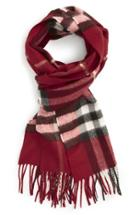 Women's Burberry 'giant Check' Cashmere Scarf
