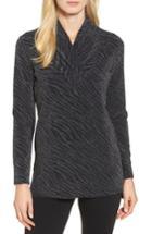 Women's Chaus Animal Print Shawl Collar Top