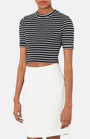 Topshop Stripe Crop Top (regular &